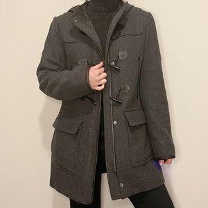 Cole Haan Gray Toggle Coat Pea Coat Wool Winter 8